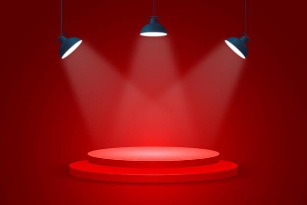 Fond De Spots Lumineux Vecteur gratuit
