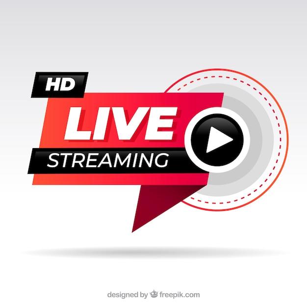 Fond En Streaming En Direct Vecteur gratuit