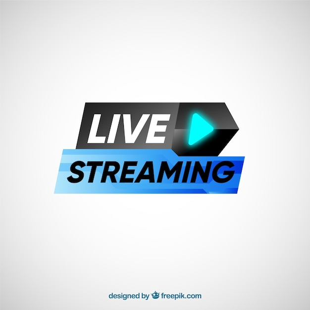 Fond en streaming en direct Vecteur gratuit