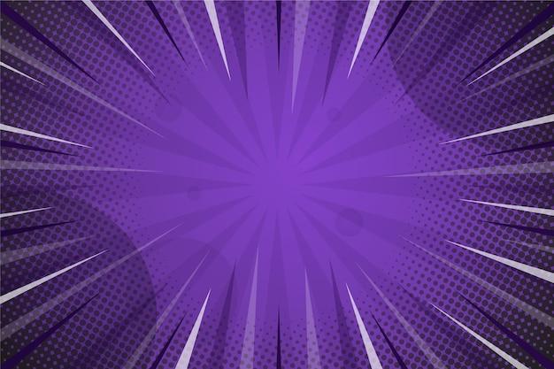Fond De Style Bande Dessinée De Couleur Violet Foncé Vecteur gratuit