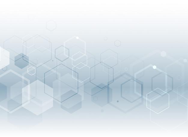 Fond de style médical hexagonal Vecteur gratuit