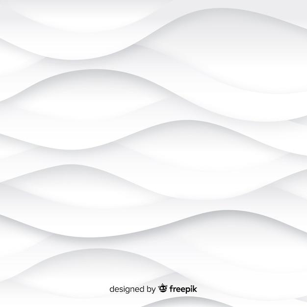 Fond De Style De Papier Blanc 3d Vecteur gratuit
