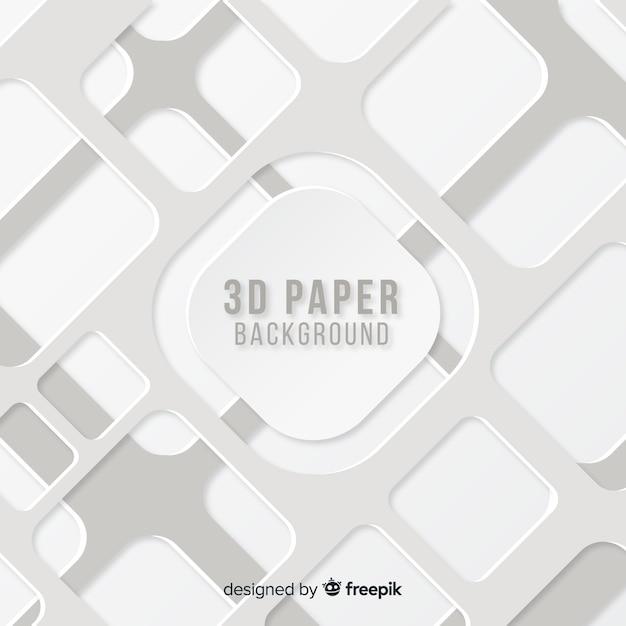 Fond de style de papier tridimensionnel Vecteur gratuit