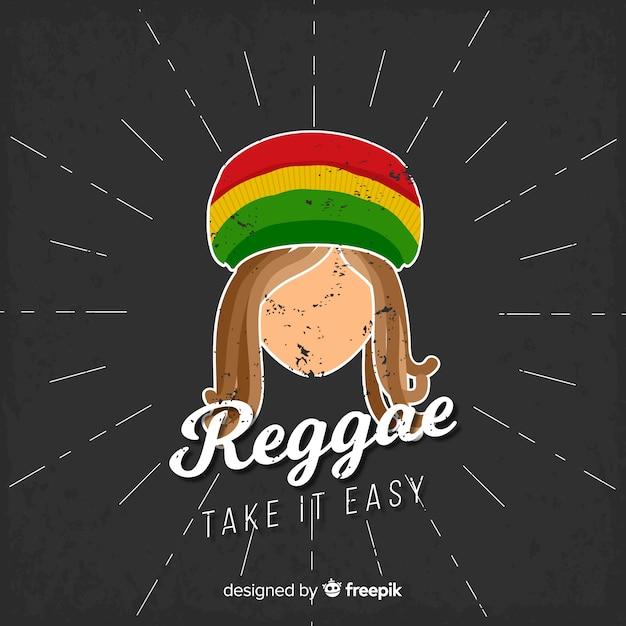 Fond de style reggae avec homme rastafari Vecteur gratuit