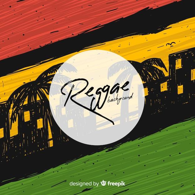 Fond de style reggae Vecteur gratuit