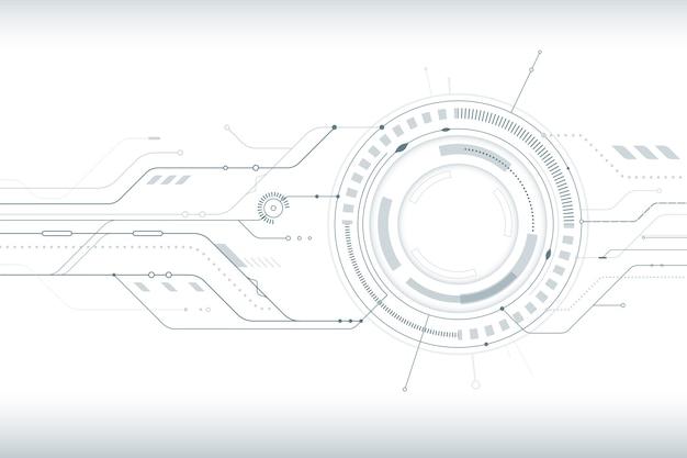 Fond Avec Style De Technologie Blanc Vecteur gratuit
