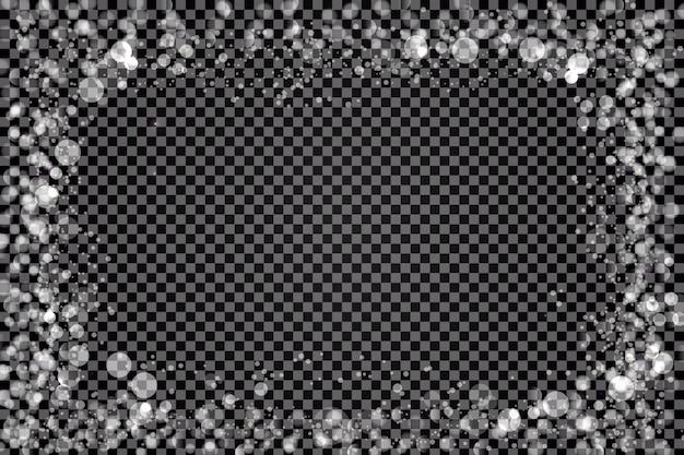 Fond de superposition de bordure de lumières Vecteur gratuit