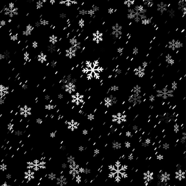 Fond De Superposition De Flocon De Neige De Noël Vecteur gratuit