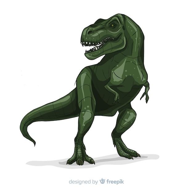 Fond De T-rex Réaliste Vecteur Premium