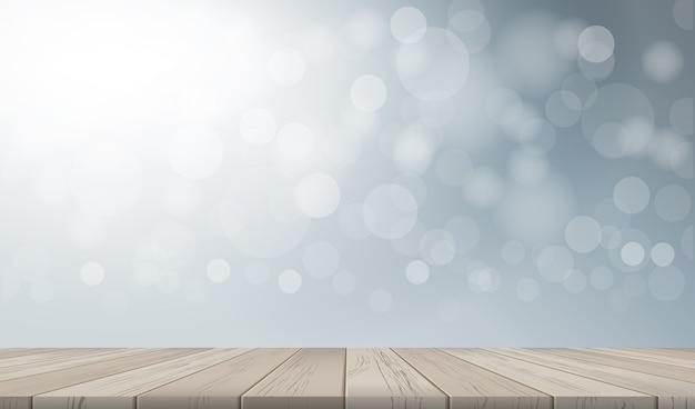 Fond De Table Avec Perspective De Motif Et De Texture En Bois Vecteur Premium