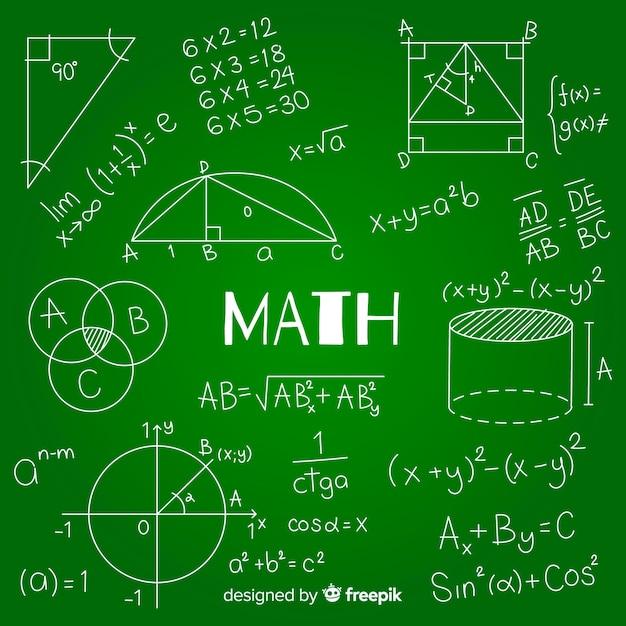 Fond de tableau math Vecteur gratuit
