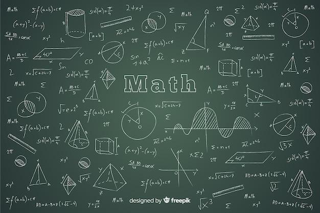 Fond de tableau mathématique réaliste Vecteur gratuit