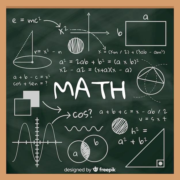 Fond de tableau réaliste maths Vecteur gratuit
