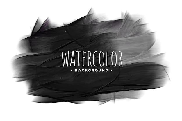 Fond De Tache De Texture Grunge Aquarelle Noire Vecteur gratuit