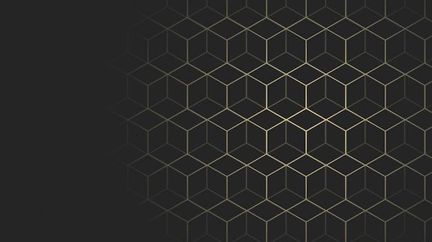 Fond De Taille De Page Web Géométrique Noir Et Or Vecteur Premium