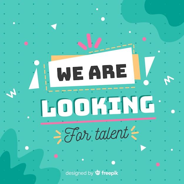 Fond de talent à la recherche calligraphique Vecteur gratuit