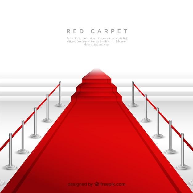 Fond de tapis rouge dans un style réaliste Vecteur gratuit