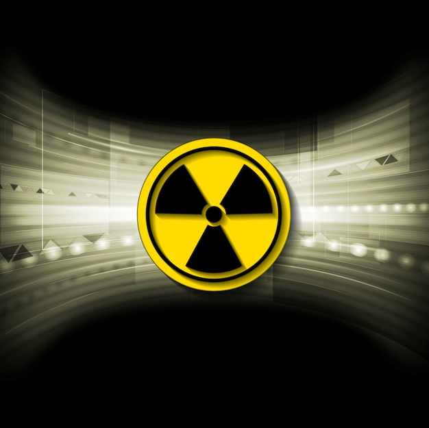 Fond Tech Avec Symbole Radioactif Vecteur Premium
