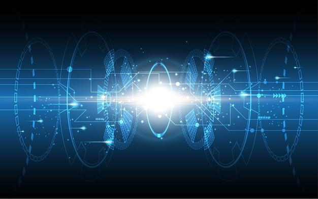 Fond de technologie abstraite concept de communication de haute technologie Vecteur Premium