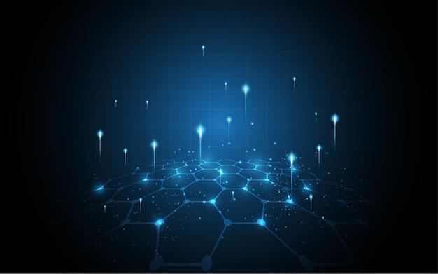 Fond de technologie abstraite de connexion au réseau mondial Vecteur Premium