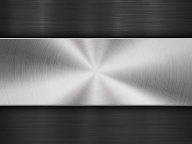 Fond de technologie abstraite texturée en métal Vecteur Premium
