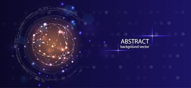 Fond de technologie abstraite. Vecteur Premium