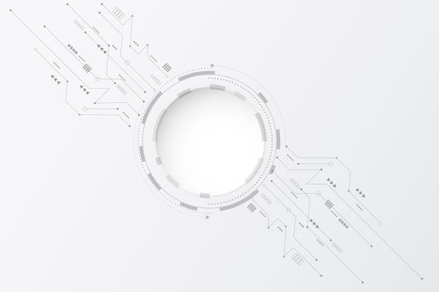 Fond De Technologie Blanc Vecteur gratuit