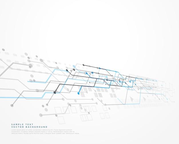 Fond de technologie blanche avec diagramme maillé Vecteur gratuit