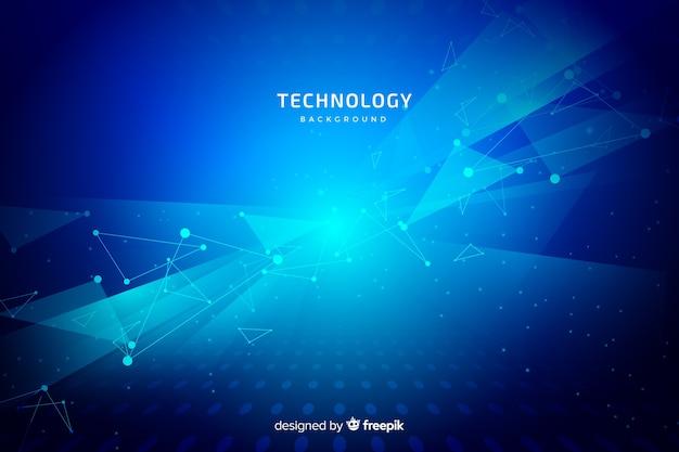 Fond de technologie bleue Vecteur gratuit