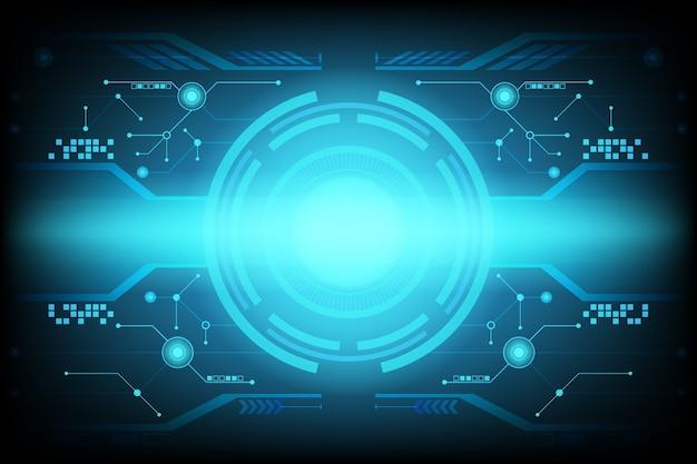 Fond de technologie de circuit futuriste abstraite Vecteur Premium