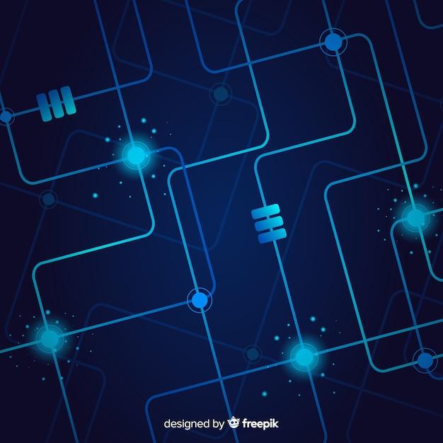 Fond De Technologie Avec Circuit Imprimé Vecteur gratuit