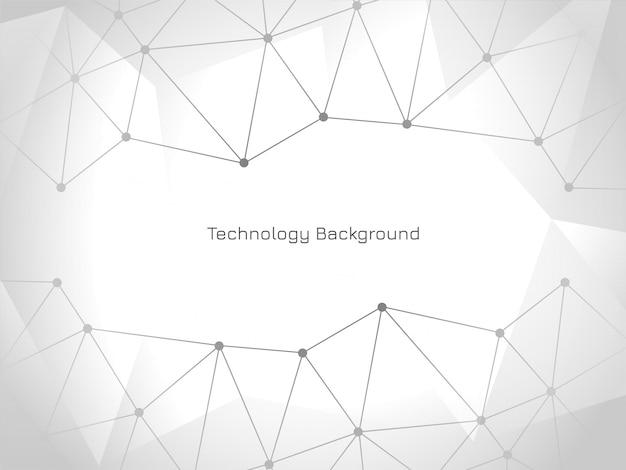 Fond De Technologie Connectée Moderne élégant Vecteur gratuit