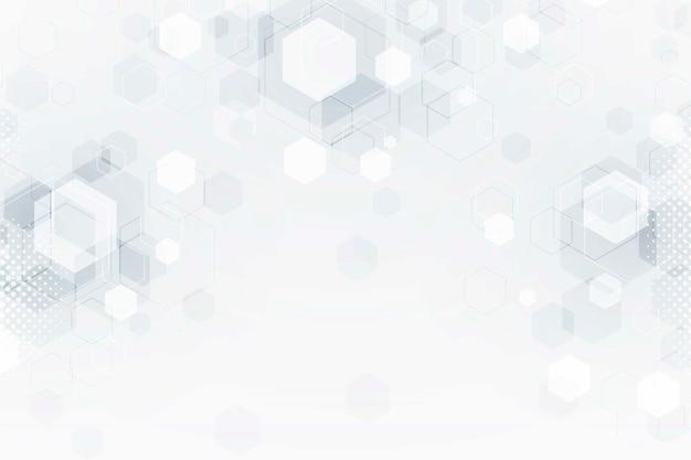 Fond De Technologie Futuriste Floue Blanche Vecteur gratuit