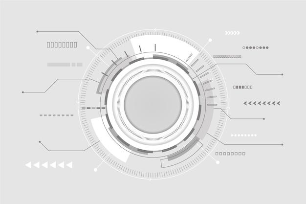 Fond De Technologie Futuriste Moderne Vecteur gratuit