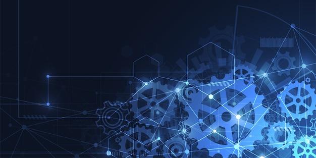 Fond de technologie futuriste Vecteur Premium