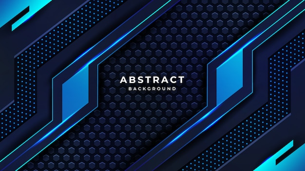 Fond De Technologie De Luxe Abstrait Moderne Vecteur Premium
