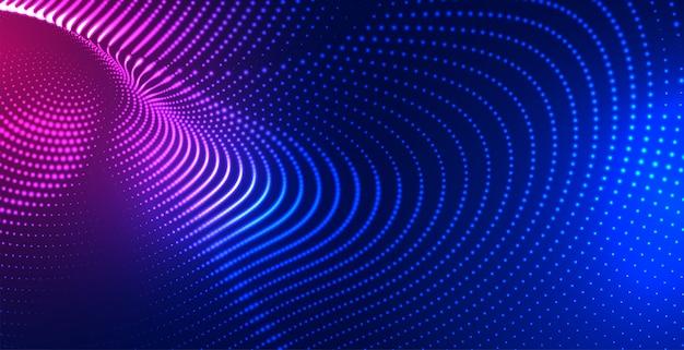 Fond De Technologie De Maillage De Particules Numériques Vecteur gratuit