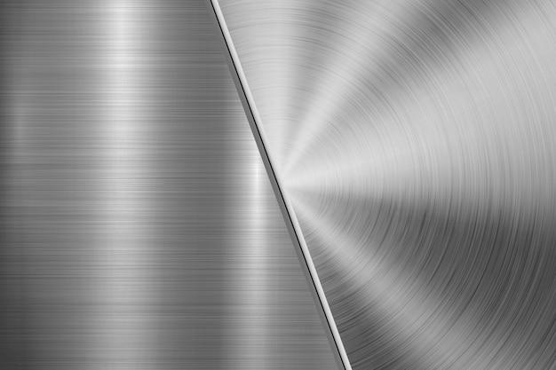 Fond de technologie en métal Vecteur Premium