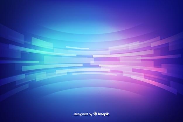 Fond de technologie de néons réalistes Vecteur gratuit