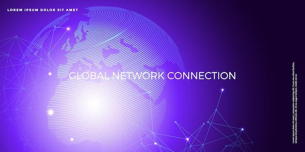 Fond de technologie numérique avancée Vecteur Premium