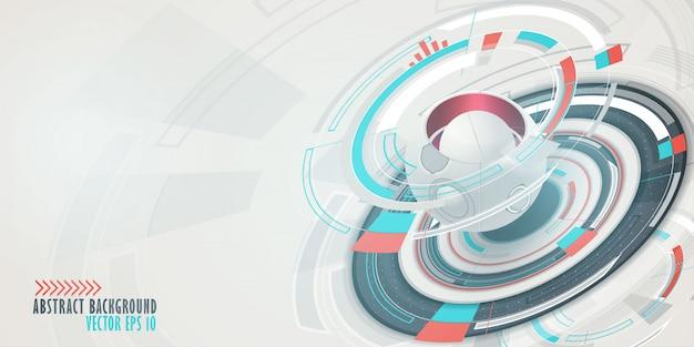 Fond de technologie numérique hi-tech Vecteur Premium