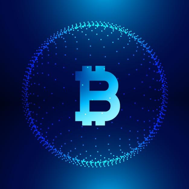 Fond De Technologie Numérique Pour Symbole De Bitcoins Internet Vecteur gratuit