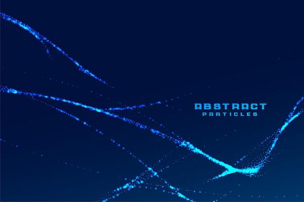 Fond De Technologie De Particules Abstraites Lignes Fractales Vecteur gratuit