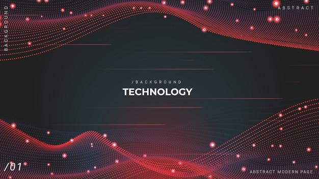 Fond de technologie de particules réseau 3d mesh Vecteur Premium