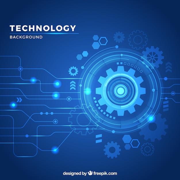 Fond de technologie avec style moderne Vecteur gratuit