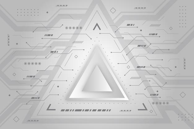 Fond De Technologie De Triangle Blanc Moderne Vecteur gratuit