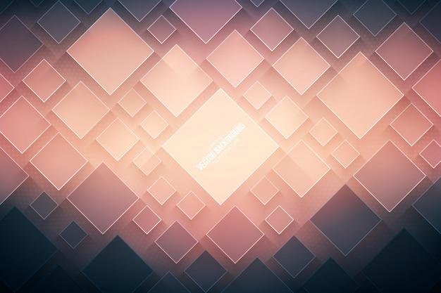 Fond de technologie vecteur abstraite. structure géométrique 3d technologique Vecteur Premium