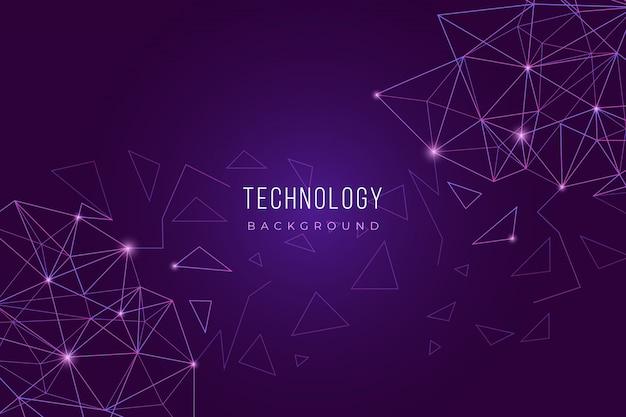 Fond de technologie violet Vecteur gratuit