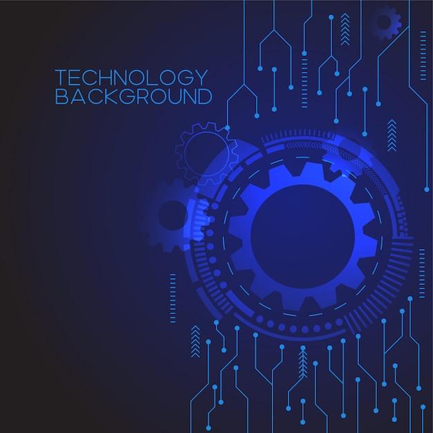Fond de technologie de vitesse bleue Vecteur Premium