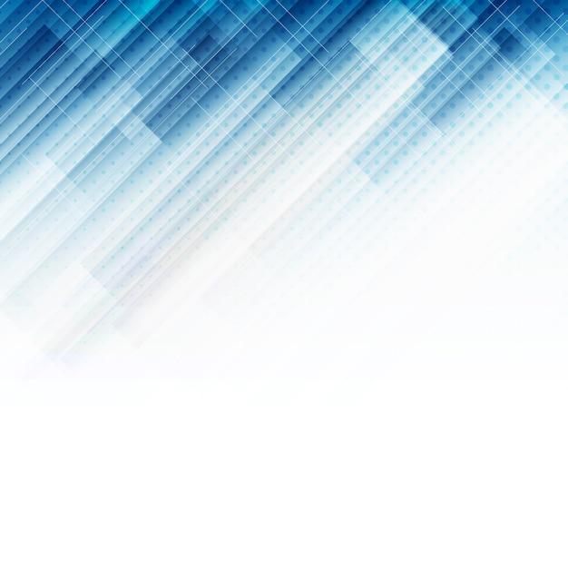 Fond technologique abstrait bleu Vecteur Premium